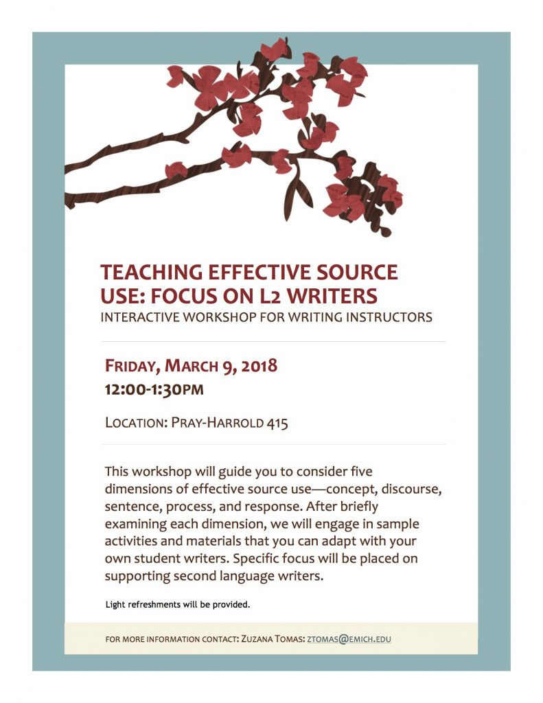 Teaching effective source use flyer